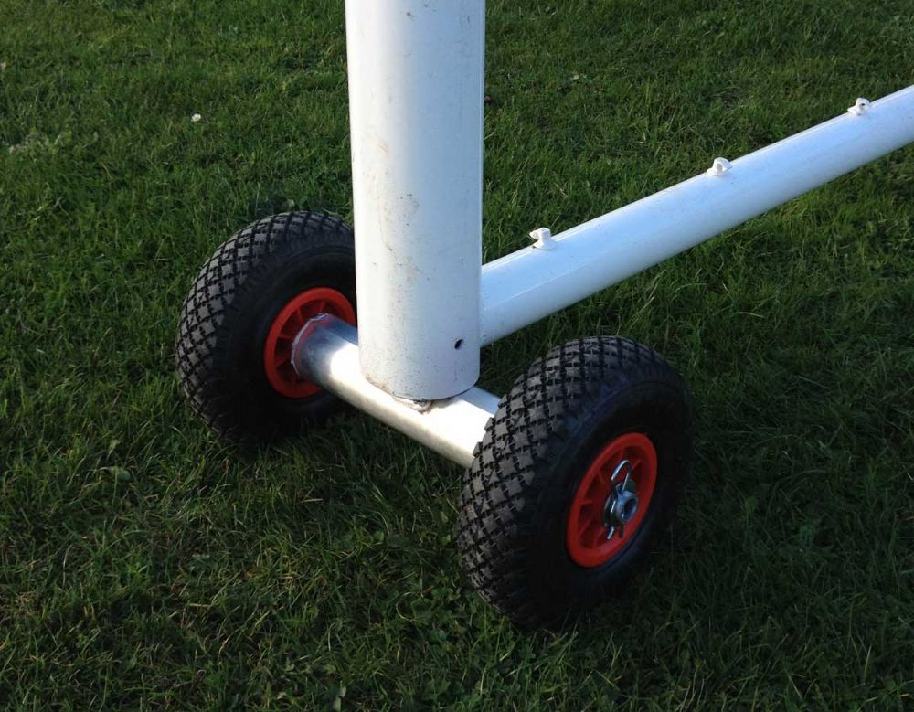 GOAL POST WHEELS TRANSPORTER -SMALL -for Oval 120x100mm Goals